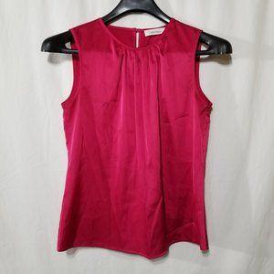 Calvin Klein pink sleeveless blouse